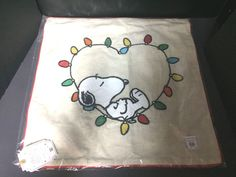67e1668f6b Pottery Barn Teen PEANUTS String Light PILLOW COVER Snoopy Christmas Holiday  NEW Snoopy Christmas