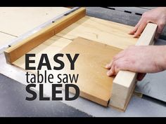 woodworking equipment Easy Table Saw Sled: 16 Steps (with Pictures) - A table saw sled (or cross cut sled) makes cutting wood against the grain safer, and much easier. There are lots of technical ways to approach making a table saw . Table Saw Workbench, Table Saw Jigs, Table Saw Stand, Diy Table Saw, Make A Table, Easy Table, Jet Woodworking Tools, Woodworking Jigsaw, Woodworking Equipment