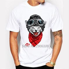 2017 New Arrival The Happy Cat Design Men's Fashion T shirt Cool Tops Short Sleeve Hipster Tees