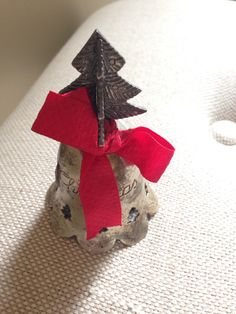 Mini silver #Christmas bell from #Goodwill. $1.99