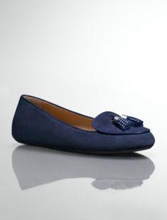 Talbots - Zaza Suede Studded-Tassel Loafers | Flats | Medium