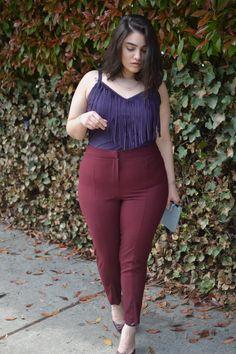 nadia aboulhosn: fringe binge, I love these colours together, it's so auberginy :-)