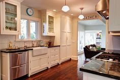 Colorful Cottage - midcentury - kitchen - los angeles - Stephanie Wiley Photography