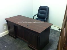 Sauder executive office desk assembled in tysons corner va by Furniture assembly Experts LLC - call (202) 787-1978