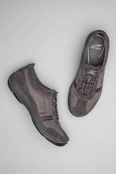 The Dansko Charcoal Suede from the Helen collection.