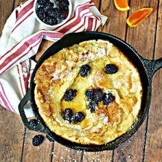 Skillet Puffy Pancake is a one bowl, less than 30 minute, pantry items, extraordinary breakfast that will impress and delight your guests!