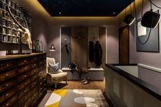 Gentleman's Quarters by Daniel Hopwood – modern hallway in dark tones. Masculine interior design