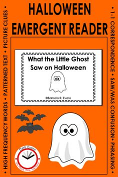 This printable, Halloween emergent reader is perfect for your kindergarten First Grade Lessons, Teaching First Grade, First Grade Reading, Teaching Activities, Teaching Resources, Classroom Resources, Teaching Ideas, Halloween Vocabulary, Halloween Activities