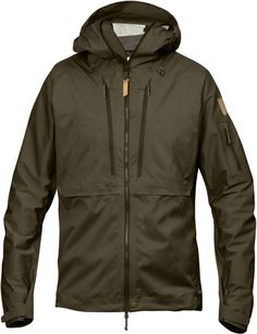 Fjallraven Outdoor Jacket Lightweight Mens KEB Eco-shell M Dark Olive for sale online Outdoor Wear, Outdoor Outfit, Tactical Wear, Style Masculin, Hunting Jackets, Outdoor Fashion, Raincoats For Women, Country Outfits, Sportswear