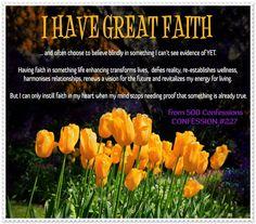 I Have Great Faith