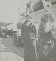 "The Grand Duchesses Tatiana and Olga Nikolaevna Romanova of Russia on board the Imperial Royal yacht,the Standart in 1914. ""AL"""