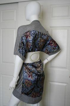 PREEN OVERSIZED LEOPARD SILK CASHMERE SLOUCHY SWEATER DRESS XS #preen #SweaterDress #Casual