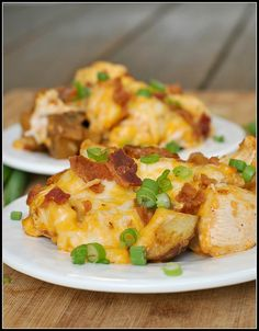 Loaded Baked Potato and Buffalo Chicken Casserole recipe by preventionrd, via Flickr