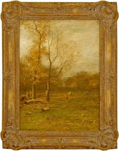 John Francis Murphy, American Tonalist, An old Clearing, oil on canvas, 16 x 22