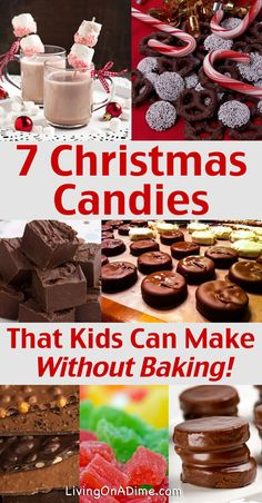 Kids Meals 7 No Bake Christmas Candy Recipes Kids Can Make - Here are 7 easy no bake recipes for Christmas Candies your kids can make! Kids love to make treats and you can supervise without wearing yourself out! Holiday Candy, Holiday Desserts, Holiday Baking, Holiday Treats, Holiday Recipes, Dinner Recipes, Holiday Foods, Easy Christmas Candy Recipes, Homemade Christmas Candy