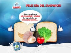 ¡Feliz Día del Sándwich! ¿Qué ingredientes lleva el tuyo?