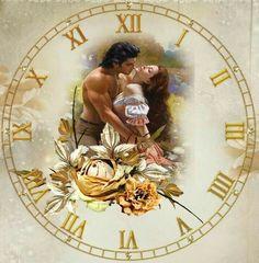 Clock Art, Diy Clock, Clock Ideas, Clock Face Printable, Decoupage, Lovers Photos, Face Images, Arts And Crafts, Paper Crafts