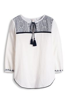 Tunic in 100% cotton with embroidery by Esprit