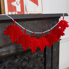 Maple Leaf Fall Crochet Decor   AllFreeCrochet.com