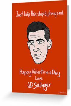 Lit Valentines - Salinger by Ben Kling