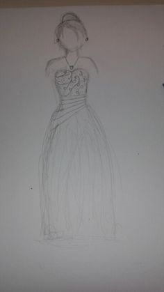 I love drawing dresses