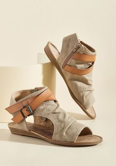 <p>While packing for your Eastern European adventure, you gaze at these tan sandals from Blowfish and realize they're as important as your passport and camera. Stowing this canvas pair in your bag, you know their crisscross straps and micro wedges are a perfect fit for your 'Prague and roll' trip!</p>