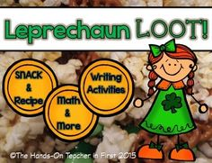 St. Patrick's and the month of March are always SO fun! I made this packet with a fun snack and recipe card, then added an original poem and more! I hope that it brings some excitement to your class during the month of March!This packet includes:*Leprechaun Loot Recipe Cards and Teacher instructions*How to make Leprechaun Loot student writing page*Graphing: What is your favorite ingredient in Leprechaun Loot?*Graphing: Lucky Charms graphing page with questions*Find it, Graph It!