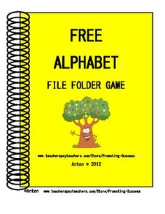 FREE Alphabet File Folder Game