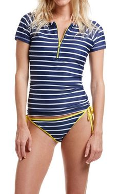 05be37816cf88 Get into the swim of things! Our women's swim shirt makes sure you look good