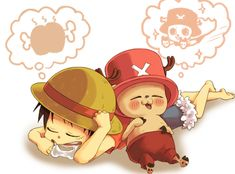 Luffy and Chopper dreaming. :-D One Piece