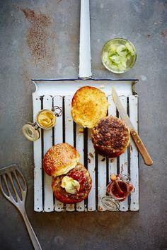 Beef and Barley Burgers - The Happy Foodie