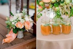 perfect floral ideas, I love the mini apples- photo by Lisa Lefkowitz Rustic Wedding Reception, Rustic Wedding Flowers, Romantic Flowers, Wedding Bouquets, Casual Country Wedding, Wedding Flower Guide, Wedding Ideas, Budget Wedding, Wedding Blog