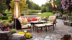 Fall is on the way. What do you think of this outdoor space for relaxing and entertaining?