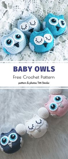 Lucky Charm Amigurumi Owls Free Crochet Patterns - Häkeln//Amigurumi&Toys - Best Picture For amigurumi For Your Taste You are looking for something, and it is going to tell - Crochet Animal Amigurumi, Crochet Birds, Cute Crochet, Crochet Crafts, Crochet Dolls, Crochet Projects, Crochet Baby Mobiles, Crochet Animal Hats, Crochet Owl Hat