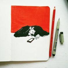 Art Journal — jdebbiel: page : ) Drawing Sketches, Art Drawings, Stylo Art, Posca Art, Arte Sketchbook, Poses References, Sketchbook Inspiration, Pretty Art, Aesthetic Art