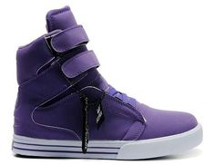 a6b2d2ffd0d8 Supra High Tops In Purple White Purple Sneakers