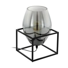 Eglo Tischleuchte Olival 1 W, Schwarz, L x B x H: 20 x 20 x cm) EgloEglo - New Ideas Touch Table Lamps, Tripod Table Lamp, Table Lamp Base, Table Lamp Sets, Lamp Bases, Ceramic Table Lamps, Drum Shade, Glass Table, Black Glass