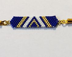 Items similar to Set of 5 Miyuki beaded bracelets handmade - Gold plated lobster clasp on Etsy Bead Embroidery Jewelry, Beaded Embroidery, Bead Loom Bracelets, Carat Gold, Loom Beading, Handmade Bracelets, Turquoise Bracelet, Glass Beads, Beading Ideas