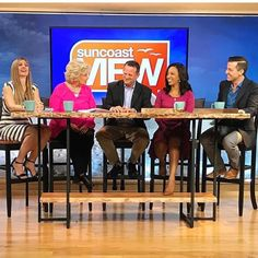 #regram Thank you to @mysuncoastview for having our CEO Jim Miller (and our Planked #LiveEdge #BarTable) on today. Catch the interview at 4 pm and tomorrow at 11 am. #DutchCrafters #AmishFurniture #Sarasota