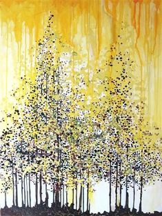 Trees ~ art in yellow