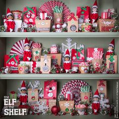 These scout elves decided to play Hide-and-Seek on this shelf! Can you find all the scout elves? | Elf on the Shelf Ideas | Multiple Elf on the Shelf
