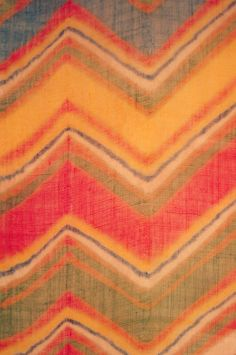 This is a turban cloth made in the early century in Rajasthan, India. It is made out of cotton muslin, and was tie-dyed in the laharia technique. Dark Colors, Light Colors, Colours, Cotton Muslin, Cotton Thread, Word Meaning, Indian Textiles, Textile Artists, Home Textile