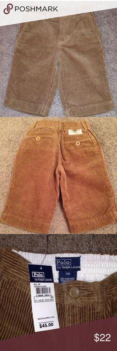 NWT Ralph Lauren Pants Brown corduroy pants for your little man Ralph Lauren Bottoms