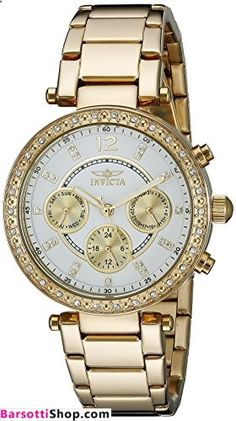 Invicta Women's 21387 Angel Analog Display Swiss Quartz Gold Watch