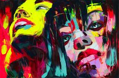 Palette knife painting portrait Palette knife Face Oil painting Impasto figure on canvas Hand painted Francoise Nielly Two Girls Cheap Paintings, Unique Paintings, Images D'art, Palette Knife Painting, Wall Art Pictures, Face Oil, Oil Painting On Canvas, Painting Techniques, Pop Art