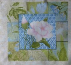 "Flower Square #5~11.5""x 12.5""~Hydrangea Radiance, Cotton Fabric,Floral, Wilmington Prints , F284 Fast Shipping"