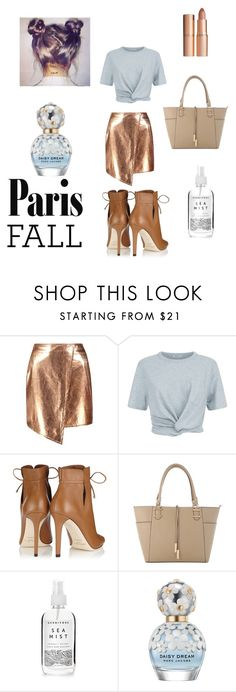 """""""paris fall"""" by harrietbuick ❤ liked on Polyvore featuring Boohoo, T By Alexander Wang, Jimmy Choo, Herbivore, Marc Jacobs and Charlotte Tilbury"""
