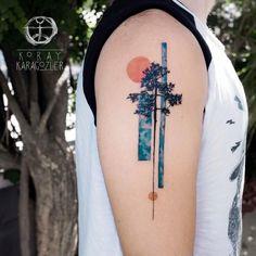 Tree Tattoo - InkStyleMag - Made by Koray Karagozler Tattoo Artists in Antalya, Turkey Region - Pretty Tattoos, Cute Tattoos, Unique Tattoos, Beautiful Tattoos, Small Tattoos, Tatoos, Finger Tattoos, Body Art Tattoos, New Tattoos