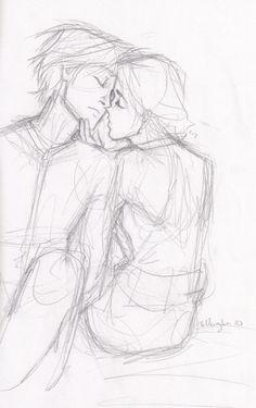 Peeta and Katniss in the mockingjay