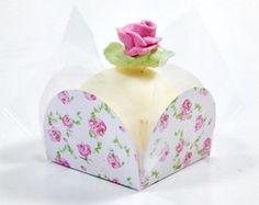 Forminha Florzinhas rosa - 100 un